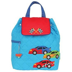 Racing Car Quilted Personalised Childrens Backpack