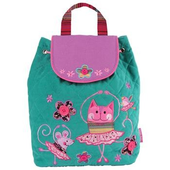 Ballet Cat Luxury Quilted Personalised Childrens Backpack