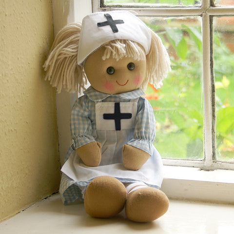 Nancy Nurse Personalised Rag Doll