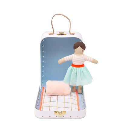 Mini Amelie Personalised Doll With Suitcase