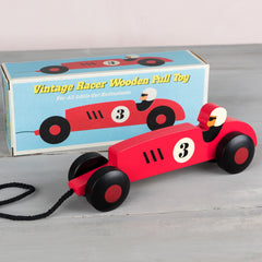 Vintage Racer Pull Along Toy