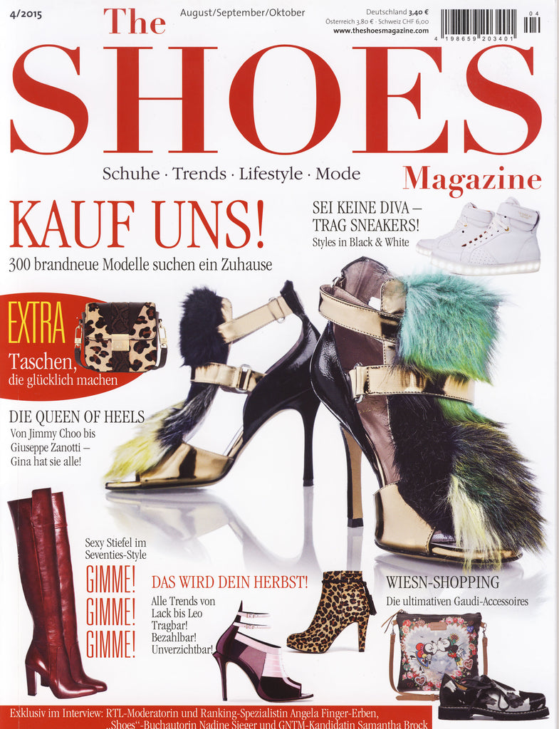 German Magazine Cover for De Siena Shoes