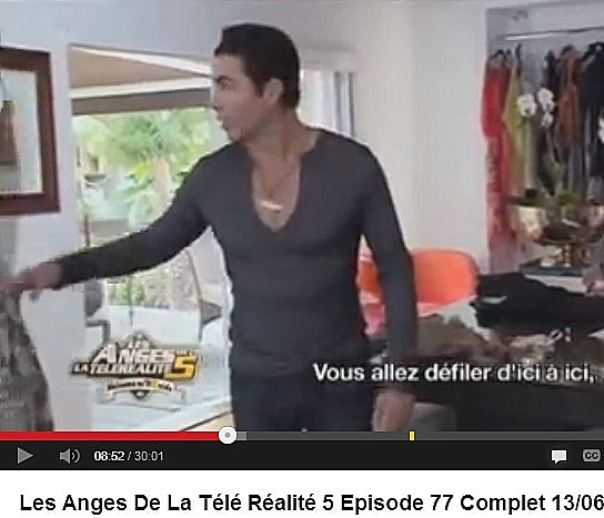 "Nicolas Felizola in French reality show ""Les Anges"""