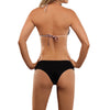 Beach Top & Black Bottom Bikini by Selvaki back view