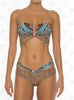 Curacao Bandeau Bikini by Paradizia Swimwear, front view on model ,strapless