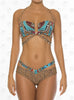Curacao Bandeau Bikini by Paradizia Swimwear, with shoulder straps