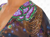 Mediterranean Vest by Paradizia Swimwear, detail of beading on shoulder, at VaultXV