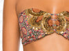 Voyage Bandeau by Paradizia Swimwear, view of front bandeau detail beading, at VaultXV