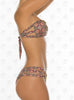 Voyage Bandeau by Paradizia Swimwear, view of strappy sides on model at VaultXV