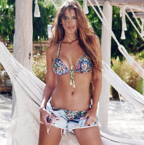 Bendito Basilico Bikini by Agua Bendita, on Shannon de Lima, view of front