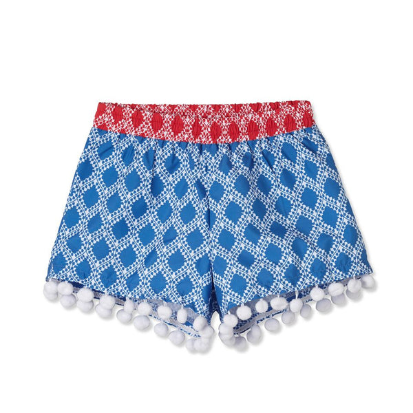 Girl Bright Pompom Shorts by Stella Cove