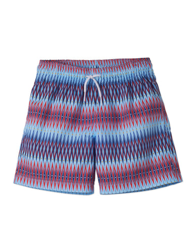 Chevron 2 Print Board Shorts by Stella Cove