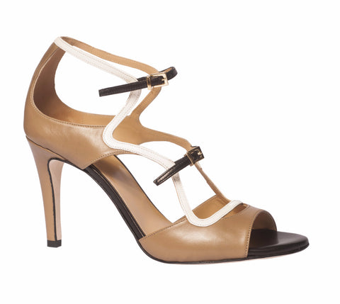 Shireen Strappy Peep Toe by De Siena at VXV