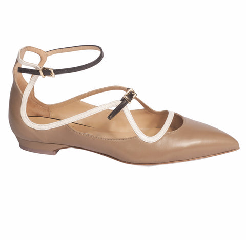 Arya Strappy Ballet Flats by De Siena at VaultXV