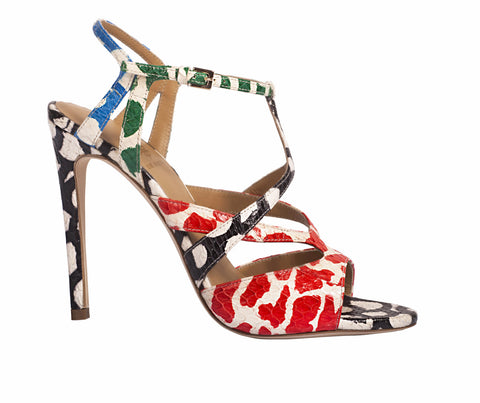 Myrcella Strappy Snake Sandals by De Siena at VaultXV