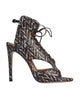Melysandre Black Boa Sandals by De Siena
