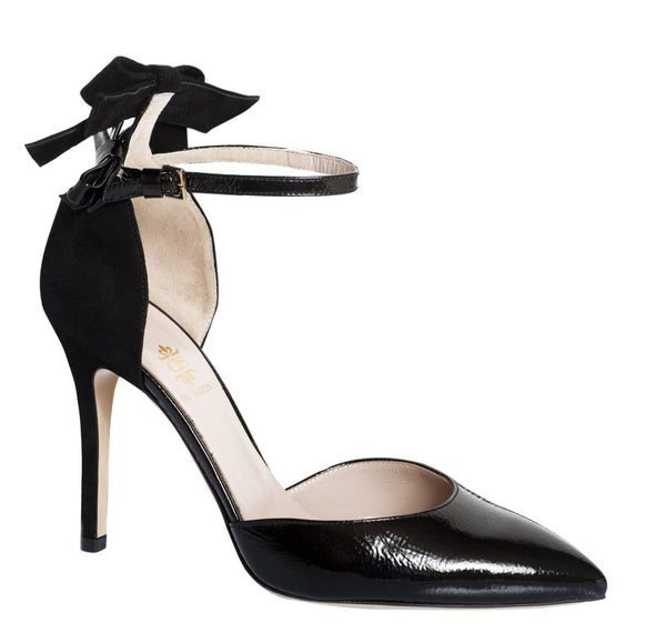 Black Polina Ankle Strap Shoes by De Siena