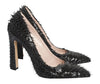 Bianca Fringe Black Patent Pumps