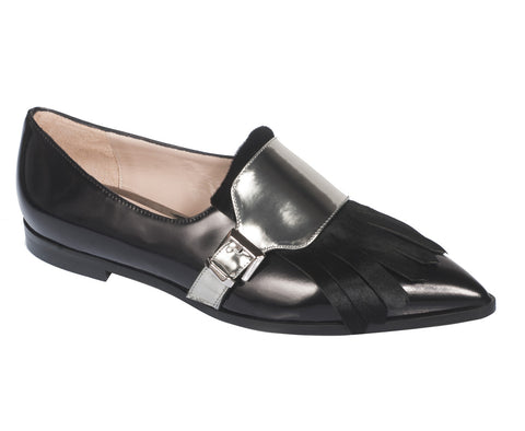 Nam Oxford Black Flats by De Siena