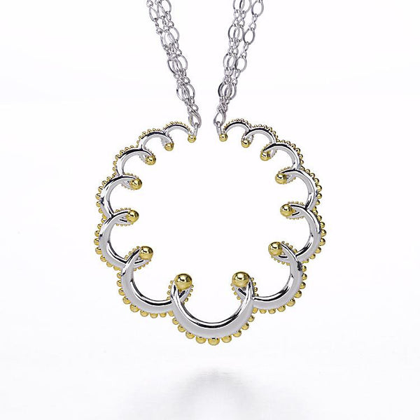 Two Toned Garland Necklace by Ellen Himic