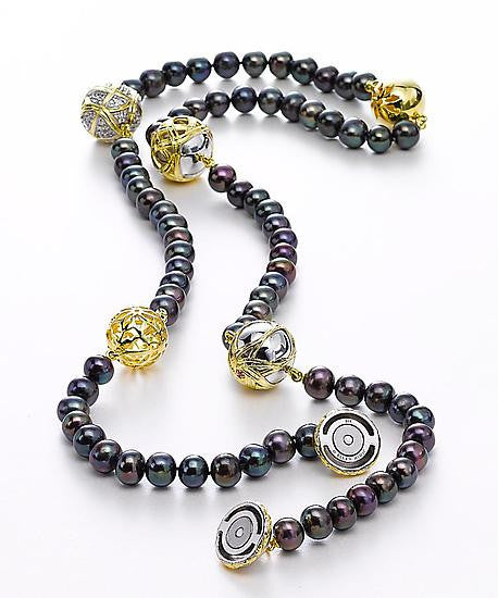 Paja Black Pearl Necklace by Ellen Himic