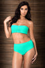 Glam II High Waist Bikini by Tequila Beach Swimwear, green color, front view on model