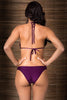 Ring Mauve Bikini by Tequila Beach Swimwear, back view on model. Smooth back bottom, ties at neck and back.
