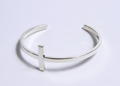 Cross Cuff Bracelet by Astrid Poletti