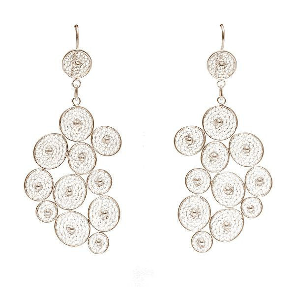 Caviar Filigree Earrings by Astrid Poletti