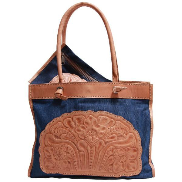 Astrid Poletti Beach Bags, leather and denim