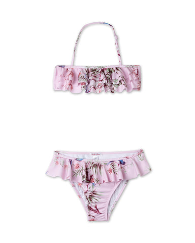 Nightingale Pink Ruffle Girls Bikini by Stella Cove