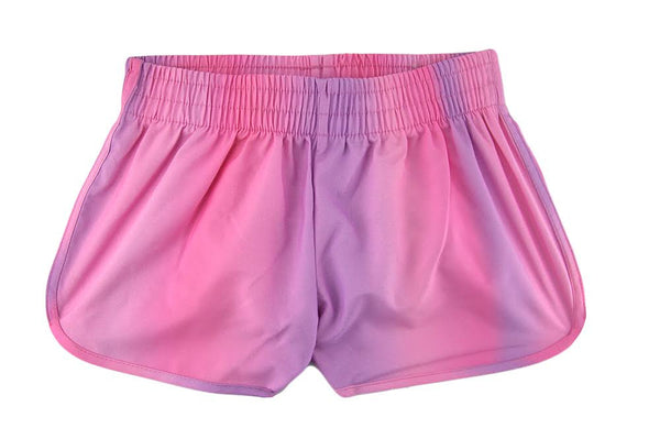 Pink Cloud Ombre Shorts for girls by Stella Cove, light, pink purple tones, elastic waist