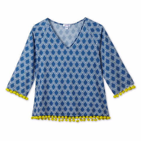 Girl Bright Pompom Shirt by Stella Cove