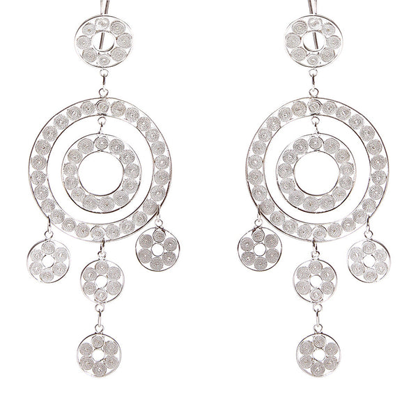 Circles Filigree Earrings by Astrid Poletti