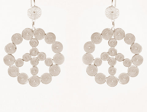 Peace Filigree Earrings by Astrid Poletti