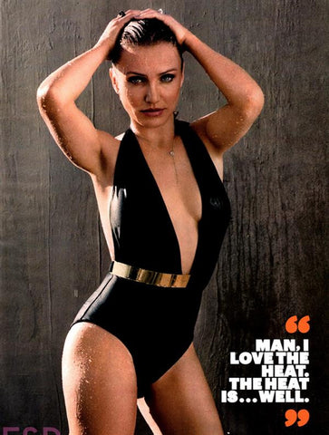 Bridget One Piece Swimsuit by Moeva at VaultXV. Black. As seen on Cameron Diaz.