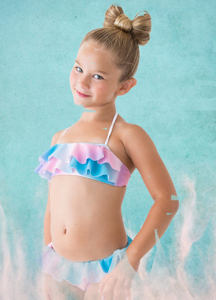 7fd7cbdcd02 Pastel Rainbow Bikini for Girls by Stella Cove | VaultXV