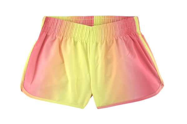 Yellow Cloud Ombre Shorts by Stella Cove, front view