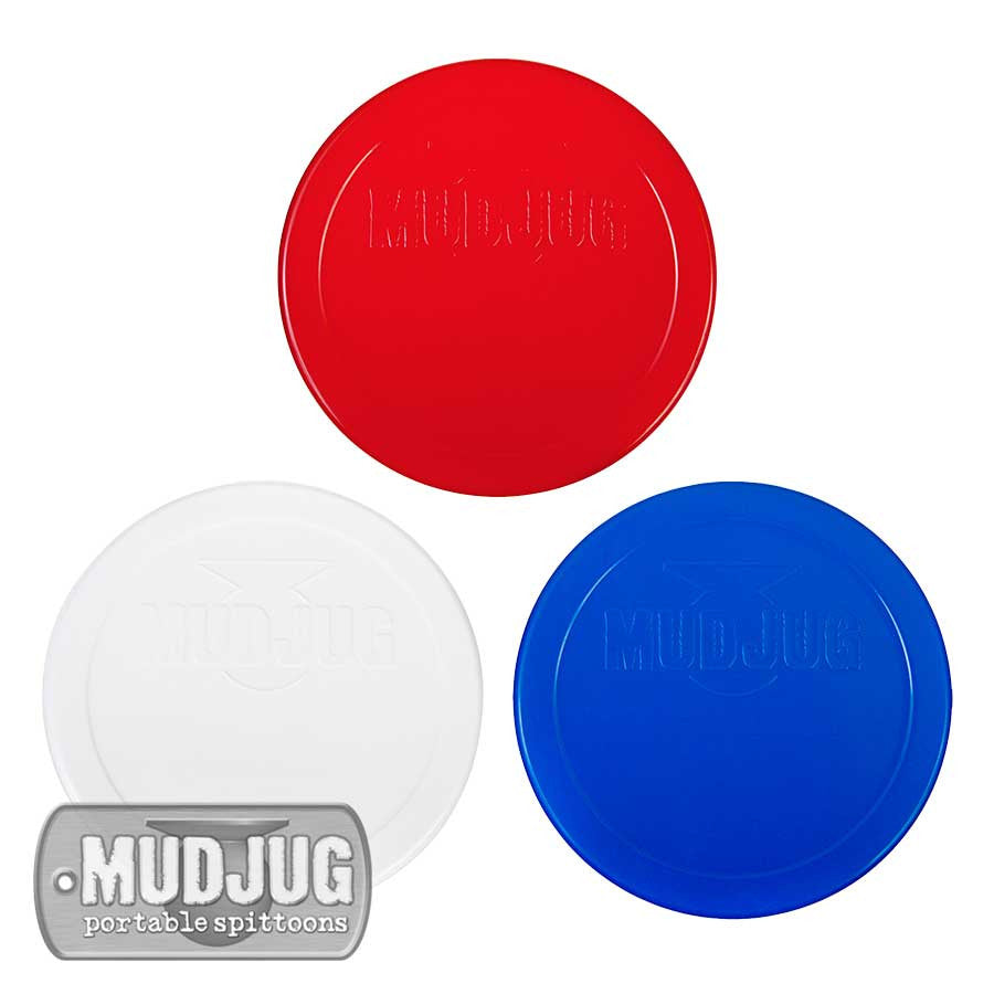 Can Lids - Mud Jug™ -Red, White & Blue - 3 Pack
