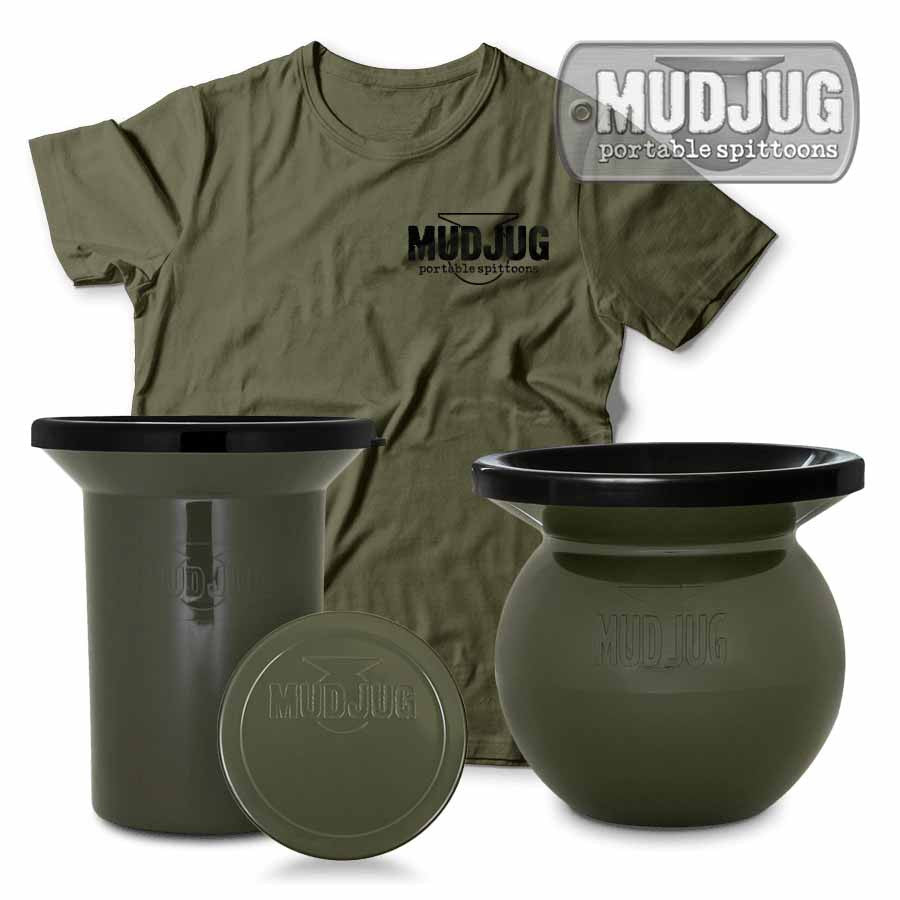 Olive Drab Bundle - Mudjug, Roadie, T-Shirt & Can Lid