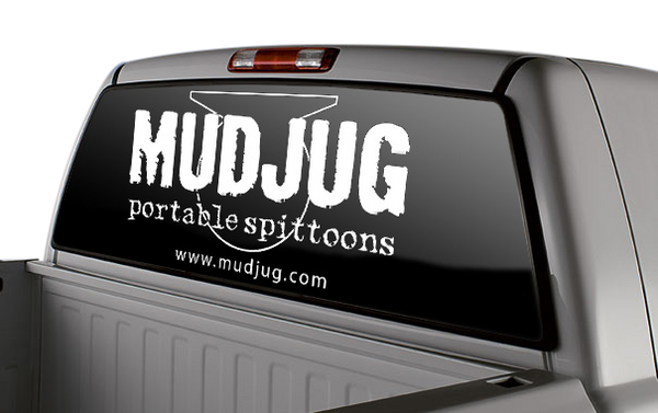 White Mud Jug Vinyl Decal