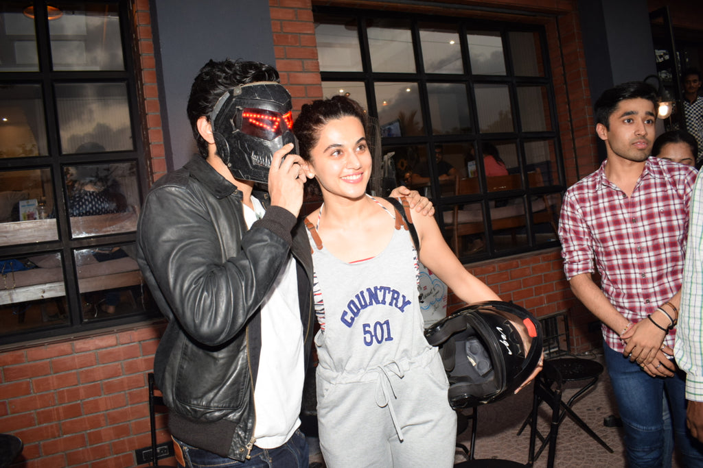 Bollywood News:Harshvardhan Kapoor with Taapsee Pannu Riding Bike for promotion Bhavesh Joshi