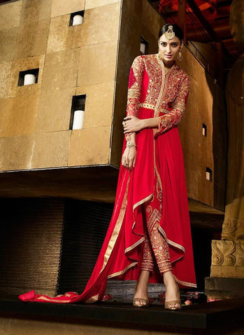 Red Anarkali Dresses