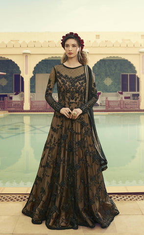 Black Net Gown Style Long Salwar Suit Dresses