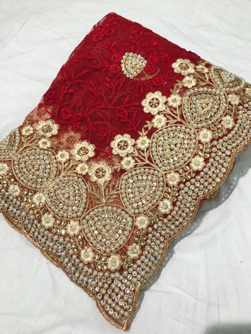 Net Embroidery Online Shopping Sarees Dress