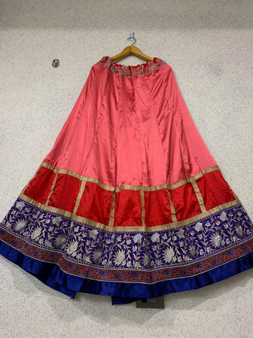Isha Gupta Georgette Silk Bollywood Lehenga Choli With Dupatta