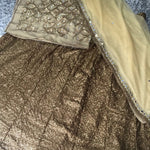 Antique Gold Color Wedding Lehenga Designs ,Indian Dresses - 2