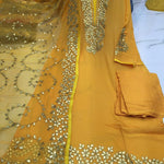 Yellow Gotta Patti Bollywood  Fashion Dress