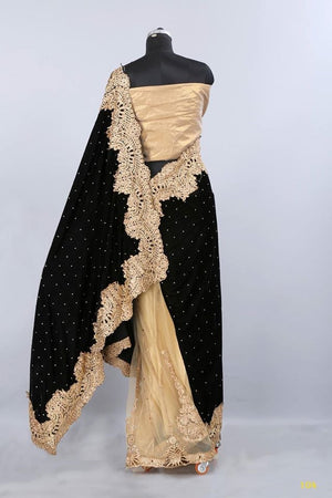 Velvet Net Indian Wedding Sarees Online Shopping ,Indian Dresses - 6