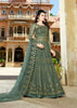 Grey  Net Embroidered Anarkali Ladies Salwar Kameez Online Shopping